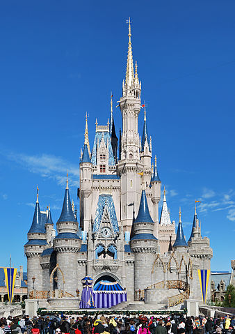 A huge disney castle