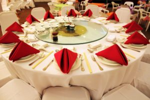 A table set at an event orchestered by Party Rental in Miami