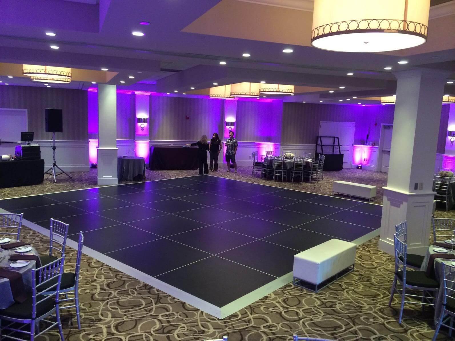Black dance floor