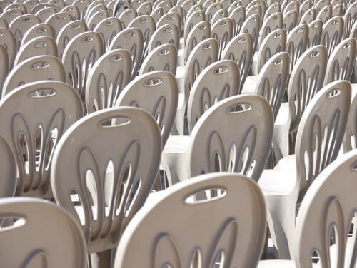 plastic chair rentals Miami