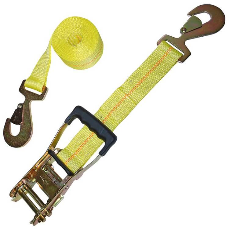 Custom made tie down strap