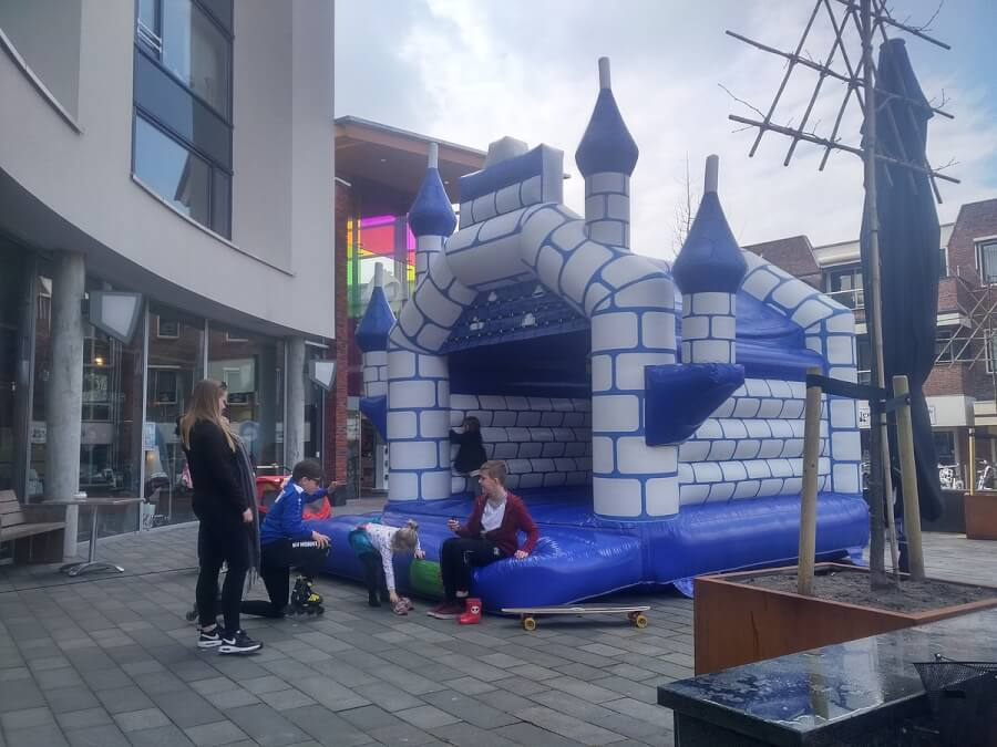Inflatable bouncing_castles_at_the_saturday_market,_Winschoten