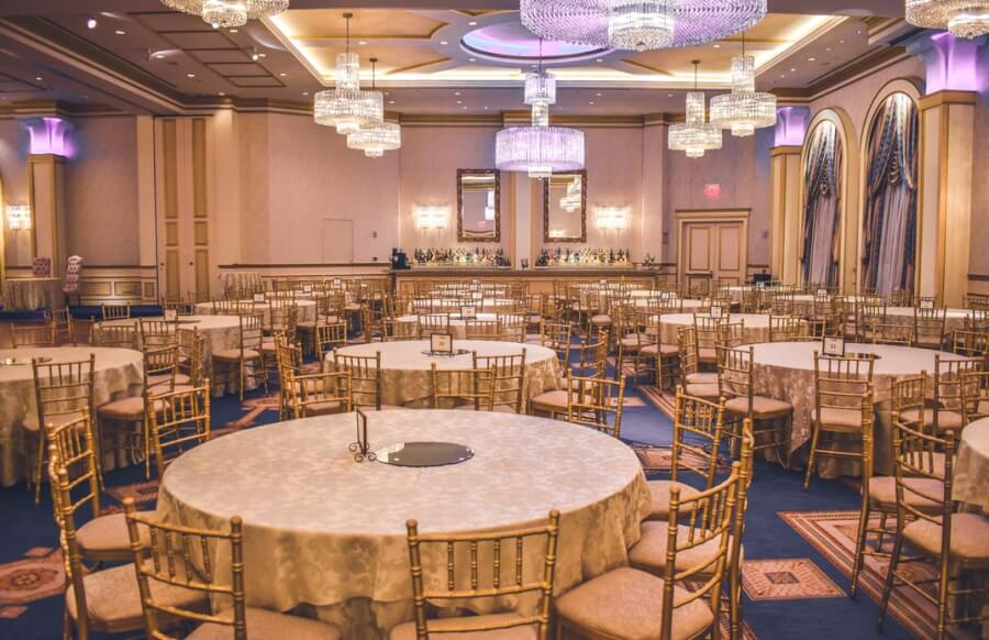 Sets of Chiavari chairs and tables