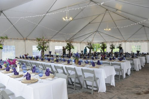 Wedding tent setup