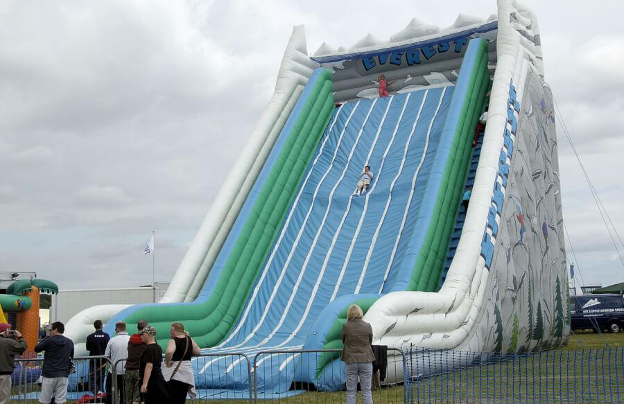 Inflatable slide Mt Everest