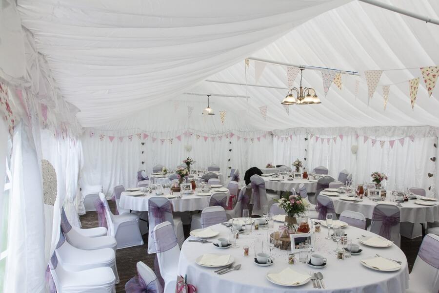 Tent wedding planning