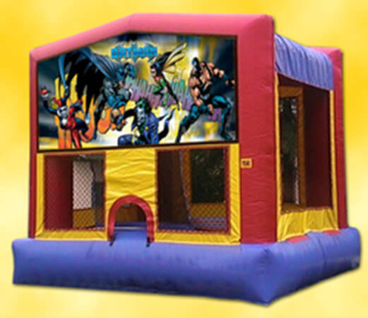 Batman and Joker theme bounce house rentals