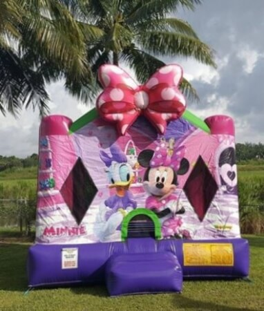 Minnie Mouse and Duck bounce house