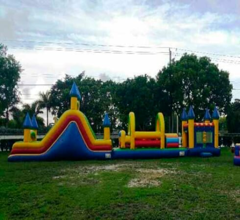 bounce house obstacle course #1
