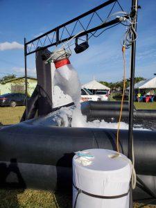 foam machine and pit